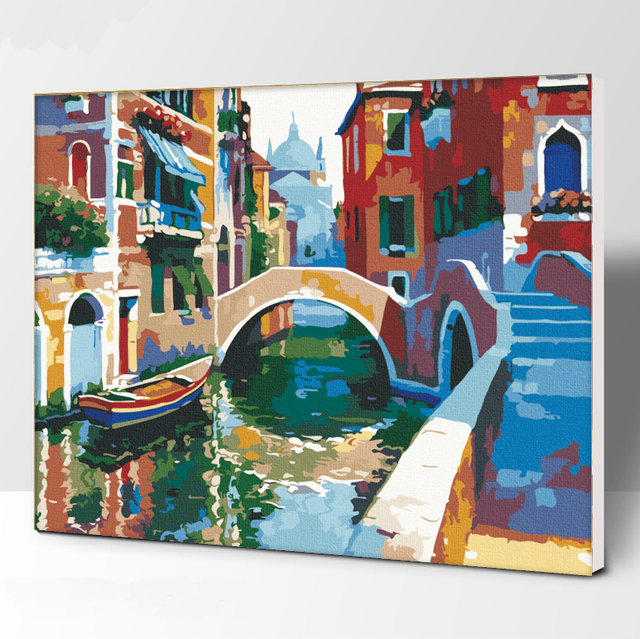 Frameless Picture Howard DIY Painting By Numbers Modern Wall Art Handpainted Oil Painting On Canvas For Home Decor