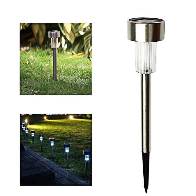 LED Solar Lamp for Garden Decoration Outdoor Pathway Waterproof LED Solar Powered Lawn Lights Street Landscape Yard Lamp