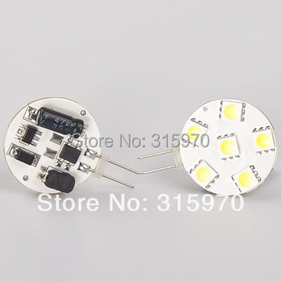 Red Emiting Color LED G4 Lamp 6LEDS of 5050SMD Round Bulb Dimmable Wide voltage AC/DC10-30V 5pcs/lot