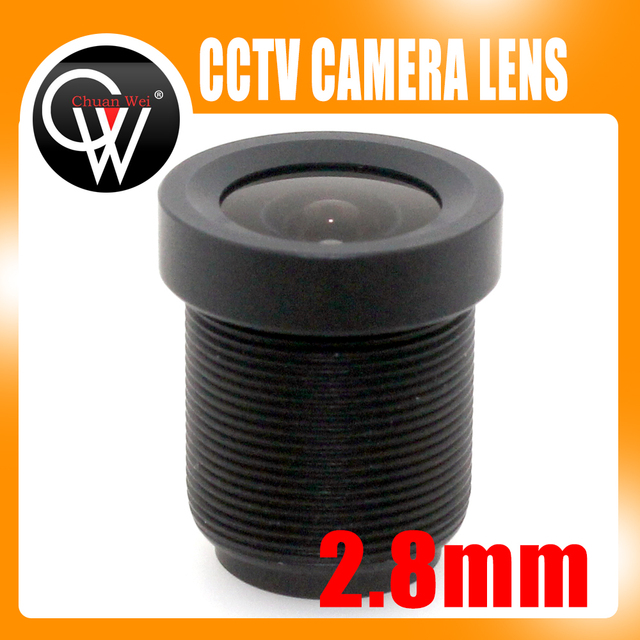 100pcs/lot Board 2.8mm lens 115 Degree CCTV Lens Wide Angle Security Lens For CCTV Security Camera