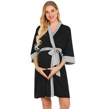 Maternity Nursing Robe Delivery Nightgowns Hospital Breastfeeding Gown clothes for pregnant women vetement femme ropa mujer
