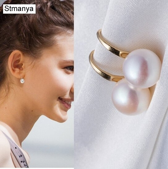 Noble Fashion set auger pearl earrings wholesale free shipping for women  wholesale Small jewelry pearl earrings  #1-12003