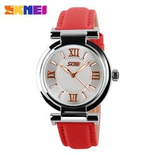 Women Watches 2018 Luxury Brand Skmei Quartz Watch Leather Strap Ladies Wristwatches relogio feminino Original Female Clock