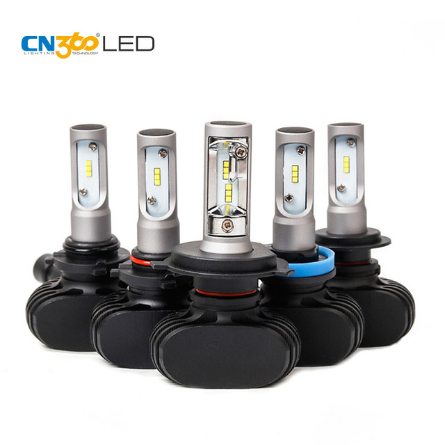 CN360 2PCS H4 H7 H11 9005 HB3 9006 HB4 LED CSP Auto Car Headlight High Low Beam 6500K  8000LM 12V All In One Small Size Fanless