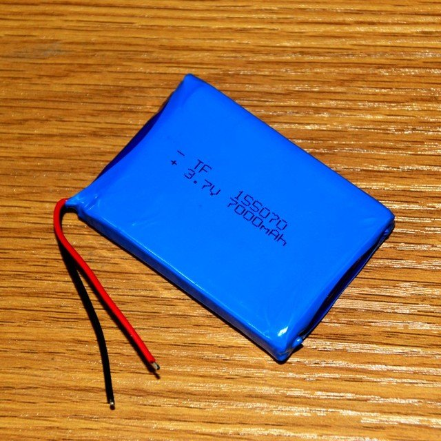 DIY charging treasure mobile power built-in lithium battery 3.7V polymer 155070 core 7000mAh packet post Rechargeable Li-ion Cel