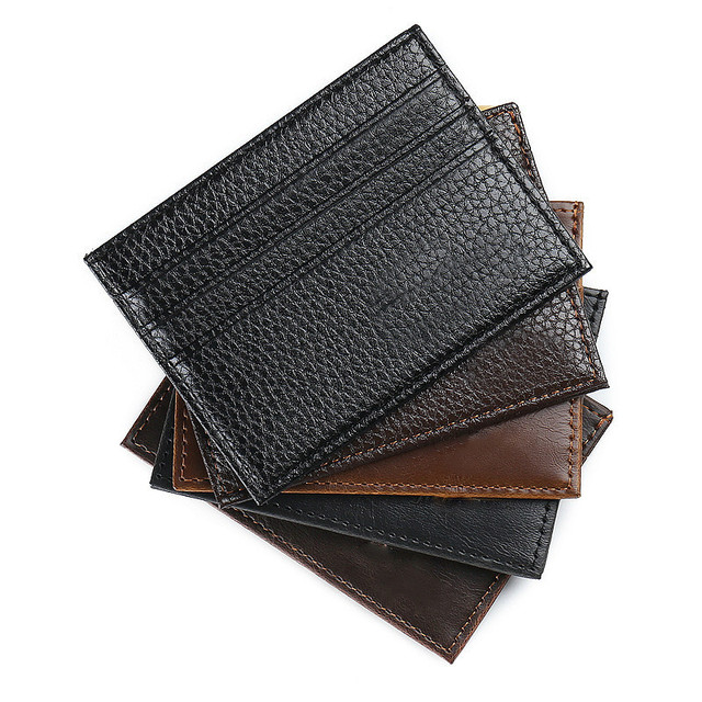 1 Pcs Business Card Holder PU Leather Convenient ID Cards Organizer Credit Cards Holder Multifunction Pocket Wallet Supplies