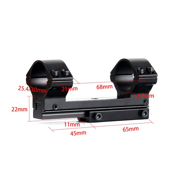 ohhunt Hunting 25.4mm 30mm High Profile 11mm Dovetail Airgun Rings with Stop Pin Windage Elevation Adjustable Scope Mount Ring