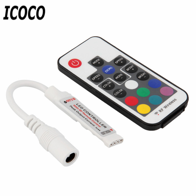 ICOCO 1pcs Mini RF Wireless Led Dimmer  Remote Controller For Single Color Light Strip SMD5050/3528/5730/5630/3014 Drop Shipping