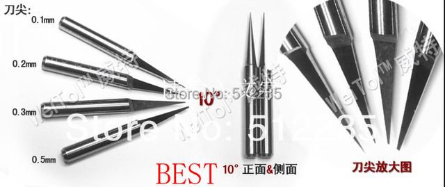 10pcs 3.175 engraving bits for spindle motor/ flat end mill