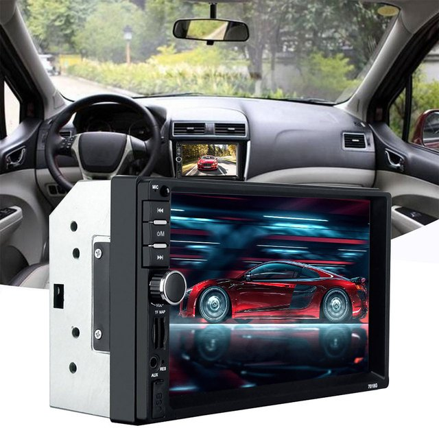 """Video Player Audio Automotive FM Radio 7"""" Car Stereo Support SD Card Automobile Bluetooth GPS Navigation Function"""