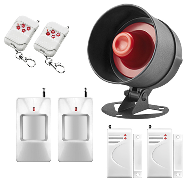Wireless Alarme For Home House Security Alarm Systems Security Home Siren Easiest Setting with Wireless PIR Door Sensor