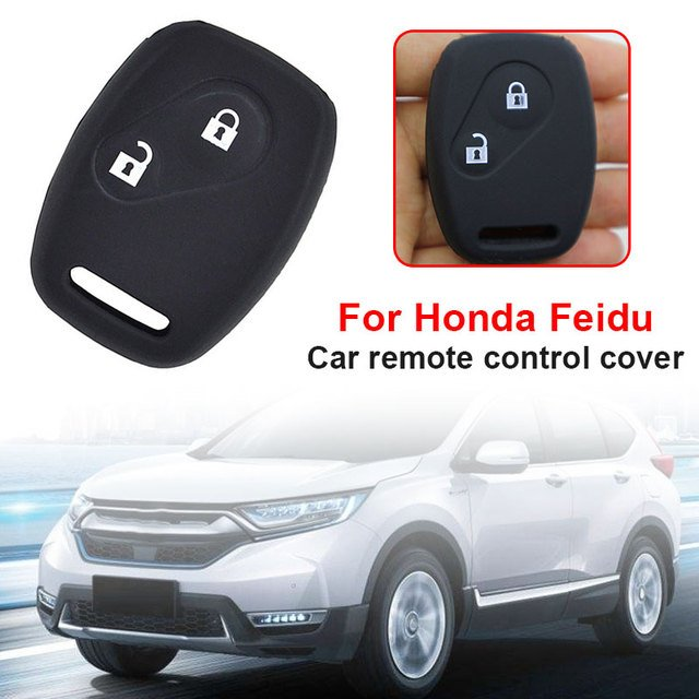 Car Key Set Flip Car Styling Case Shell Beautiful Remote Vehicle Auto 2Button Silicone Black Car Key Cover Key Shell