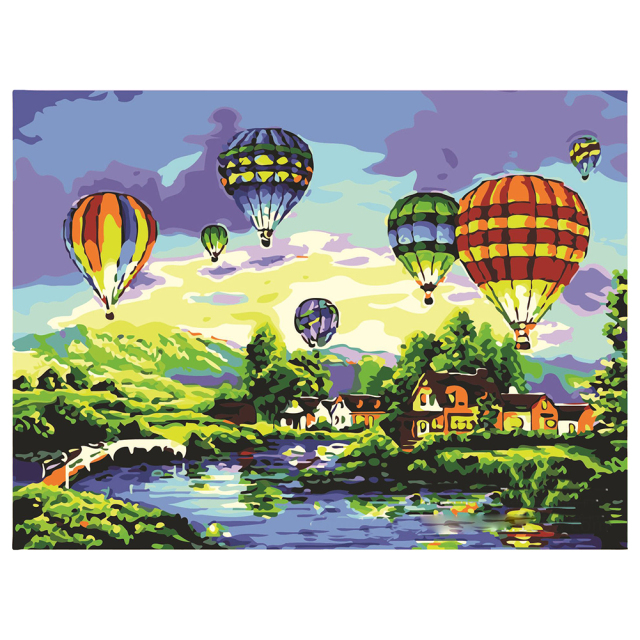 SDFC-Paintworks Paint By Number, Balloon Glow 20 by 16 inches