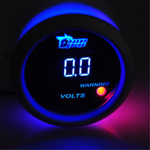 "2"" 52mm Blue LED Digital Volt Voltage Meter Voltmeter Gauge Universal Car Motor 24 Volt Auto Car Voltmeter Free Shipping"