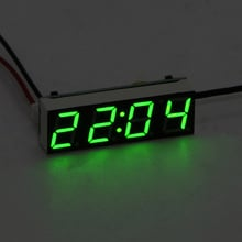 Car Electric Clock Digital Timer LED Temperature Auto Replacement Parts Thermometer Voltmeter LED Display Green Blue Red Light