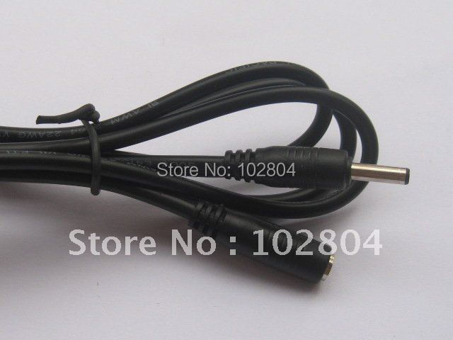 DC Power Jack 3.5x1.35mm Female to 3.5x1.35mm Male Plug Cable 100cm 6 pcs Per Lot