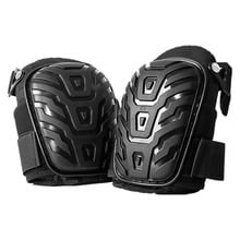 1 Pair/set Professional Knee Pads with Adjustable Straps Safe EVA Gel Cushion PVC Shell Knee Pads for Heavy Duty Work