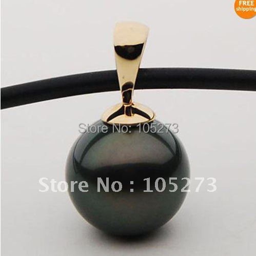 Wonderful! AA 12MM Round shaper Mother-of-pearl pendant necklace black rope necklace fashion jewelry Free shipping NF221