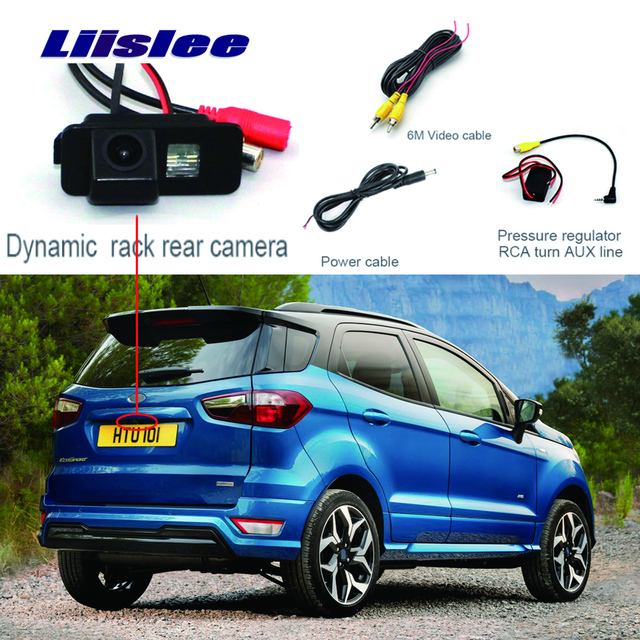 Liislee For Ford EcoSport Parking Rear View Camera Reverse Backup Camera HD CCD Night Vision + Water-Proof+high quality