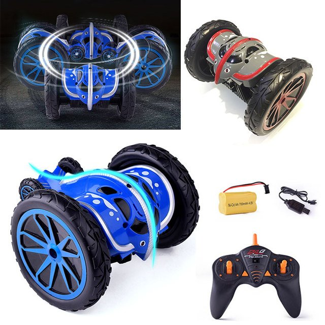 Rc car Plastic Remote control car Stunt Dumper Rotating RC Car Fashion Music Model Car Puzzle Interactive education Toys for boy