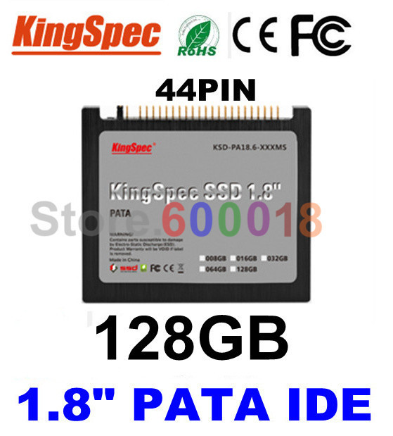 "L Kingspec 1.8"" inch PATA IDE 44PIN  Solid State Disk ssd 128GB Internal Hard Drive Laptop For IBM X40 X41 X41T ,CE ROHS FCC"