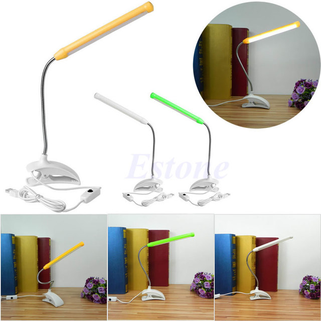 Adjustable USB Clip-on 13 LED Light Clamp Bed Table Study Desk Reading Lamp For Camping,Emergency Lighting,Night Reading