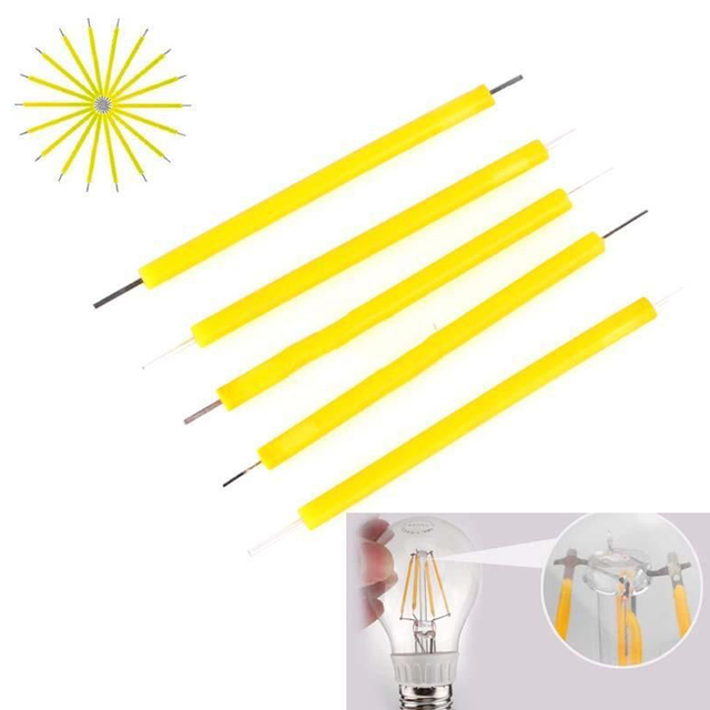 5Pcs/Set 1W COB LED Filament Bulb Candle Light Source Super Bright LED Lamp Lighting DIY Fixment Lightening Accessories