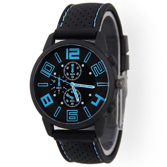 Men Fashion Stainless Steel Sport Cool Quartz Hours Wrist Analog Watch Relogio Masculino Erkek Kol Saati Watch Men