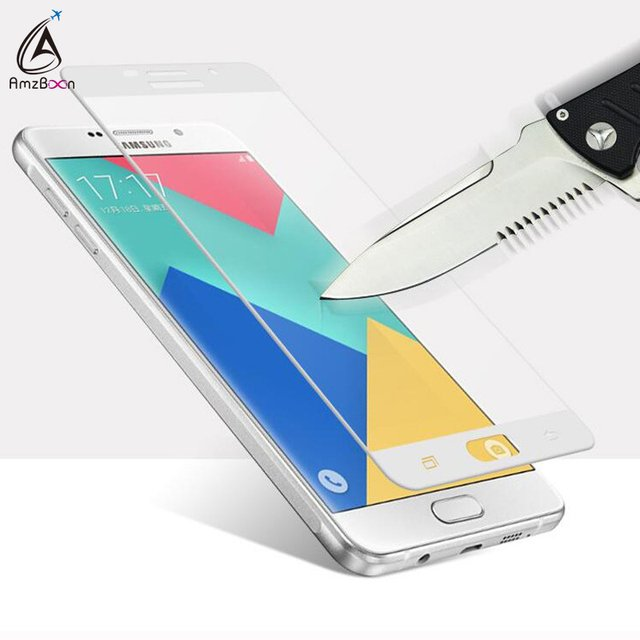 Amzboon 2.5D 0.33mm Full Screen Cover 9H Hard Screen Protector Tempered Glass For Samsung Galaxy A5 2017 Glass Film For A5 2017