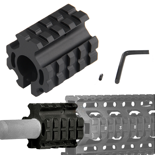 "Airsoft Hunting 0.75inch .223 rem 5.56mm Adjustable Quad Rail Gas Block Mount For 0.75"" Barrel Accessories Free Shipping 1-0008"