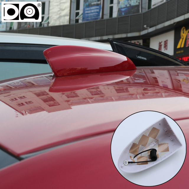 Super shark fin antenna special car radio aerials Stronger signal Piano paint Bigger size for Toyota Aygo accessories