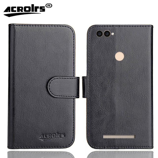 Leagoo Power 2 Case 6 Colors Dedicated Leather Exclusive Special Crazy Horse Phone Cover Cases Credit card Wallet+Tracking