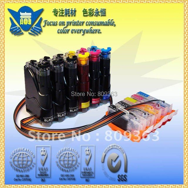 CISS PGI-5 CLI-8, Continuous Ink Supply System for Canons MP500 MP510 MP520 MP610 MP800 MP810 MP950 MP960 ,Free Shipping