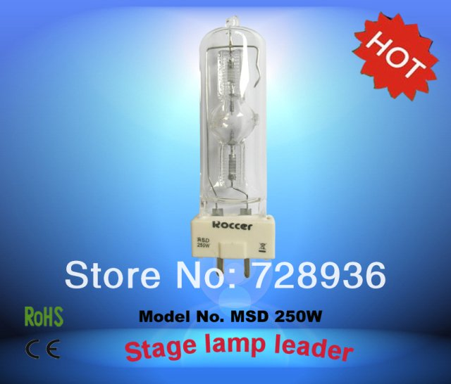 ROCCER MSD 250W GY9.5 msd250 bulb Metal Halide Lamp 250w Stage Light 250 lamp msd 6000k msd250