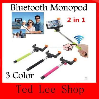 Z07-5 Wireless Bluetooth Extendable Monopod Handheld Monopod Stick with Remote Shutter Function For iPhone Samsung