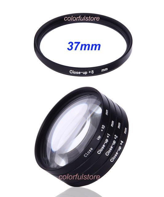 37mm 37 mm Close-up Close Up Filter Macro Lenses Filters Diopter 5x +1 +2 +4 +8 +10 For Canon Nikon Sony Olympus Pentax Lens A37