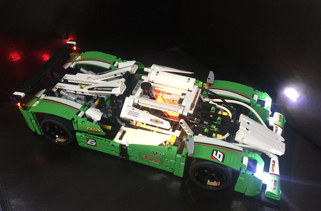 LED light up kit for lego 42039 and 20003 The 24 hours Race Car ( the car not included)(only included the light)