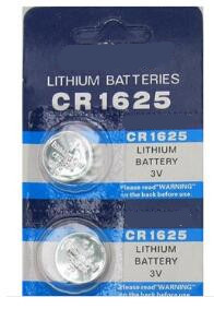 Free shipping 5pcs/lot 3V CR1625 lithium button battery coin cell battery