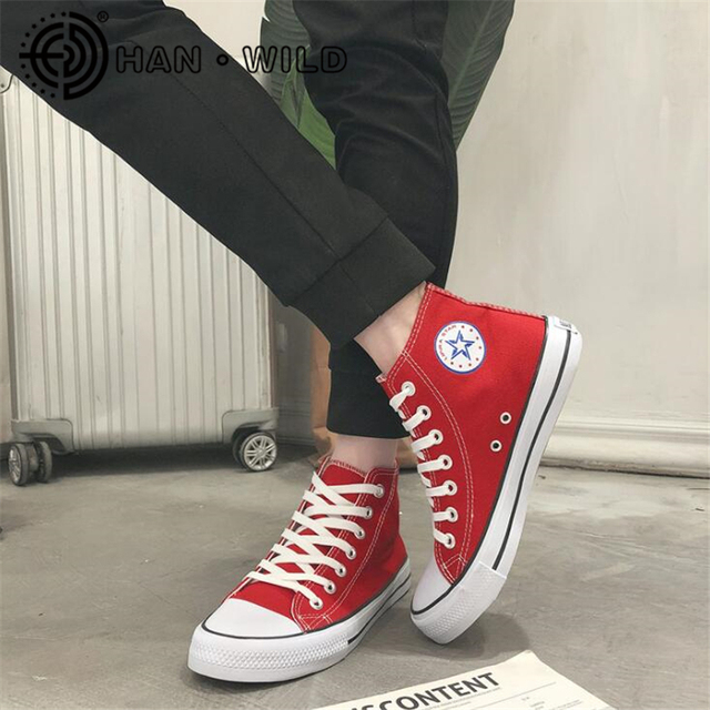 New Brand Man Women Casual Canvas Shoes Breathable Tenis Fashion Men Sneakers High/Low Top Flat Shoes Men Lace Up Flats