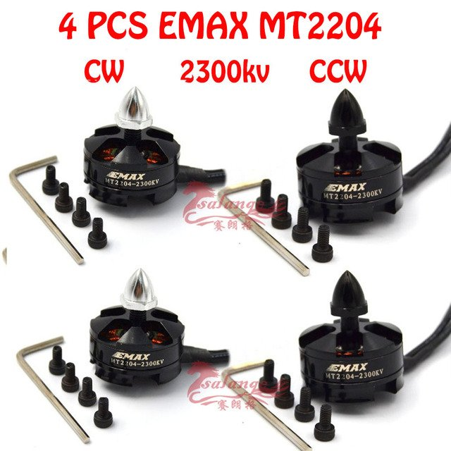 4 шт. оригинальный Emax MT2204 2300KV безщеточный CW/CCW Для FPV-системы multirotor Quadcopter Вертолет 250 вертолет с камерой часть