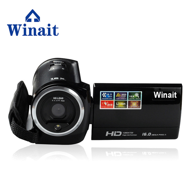 "Winait   Free Shipping 16 Mp Max 720P HD 16 X Zoom Digital Video Camera Digital Camcorders with 2.7"" LCD Screen Lithium Battery"