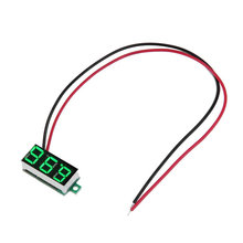 "2016 newest DC 3-30V 0.36"" 2 Wire LED Digital Panel Volt Meter Voltage Voltmeter Car Motor green color"