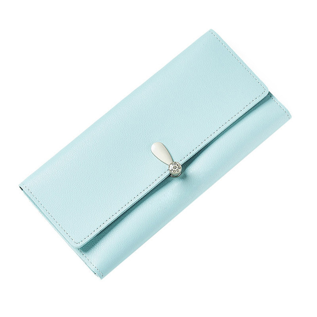 New Arrival Ladies PU Leather Zipper Coin Purse Card Holders Wallets Women Long Clutch Solid Color Wallet Money Wallets Popular