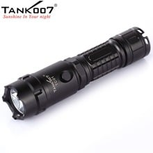 Free Shipping TANK007 TC01 XM-L T6 LED Cree Rechargeable Police Flashlight 1*18650