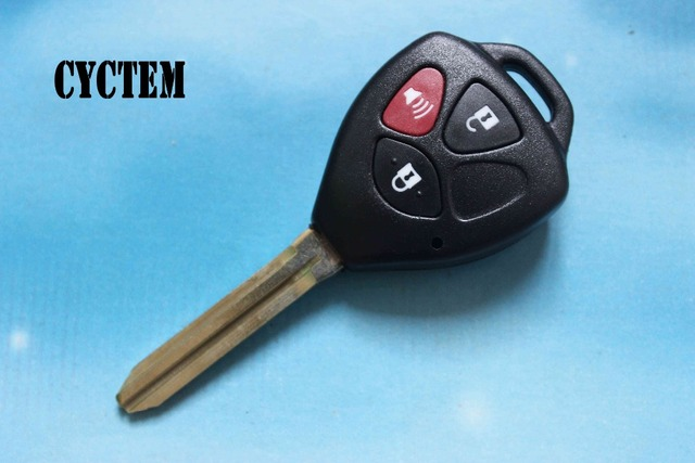 CYCTEM Toy43 Car Key Shell Fob Case 3 Buttons Remote Key Cover Housing Fit For Toyota Camry