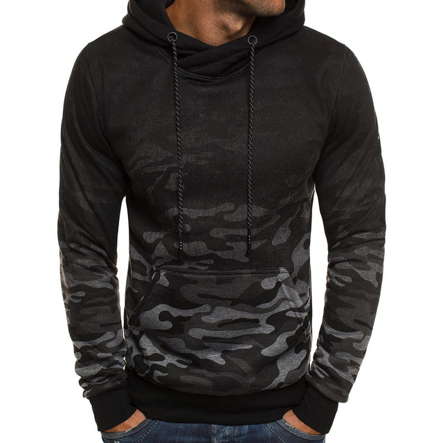 2019 New Spring Autumn Men Hoodies Sweatshirt Fashion Camouflage Hoody Military Tracksuit Casual Pullover Male Brand Clothing