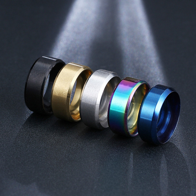 CACANA  Stainless Steel Rings For Women Refinement Black Gold Blue Multicolor Silver Color Fashion Jewelry Wholesale