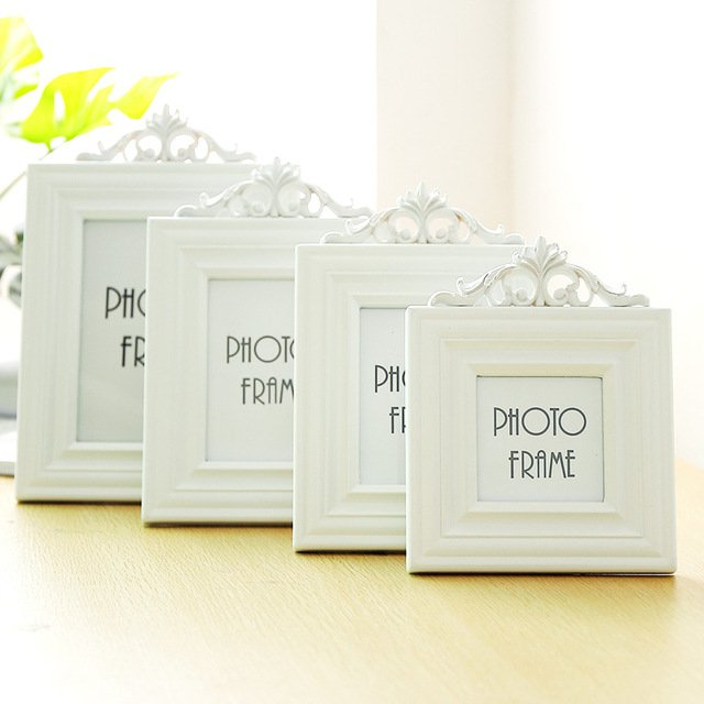 European Solid Wood Glass Photo Frame Set Ornaments Creative Wooden Picture Frames Desktop Crafts Home Decoration Birthday Gifts