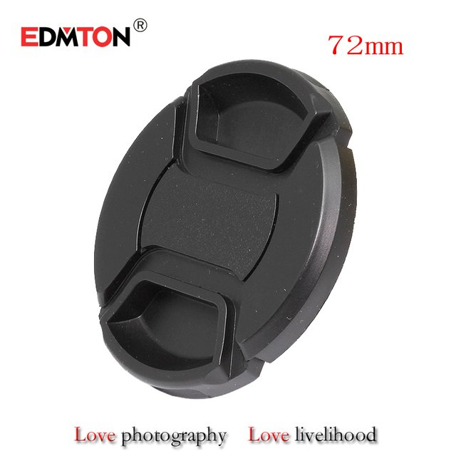 72mm lens cap 72mm Center Pinch Snap-on Front Lens Cap for camera Lens Filters with Strap for canon sony nikon