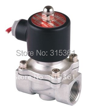 """Free Shipping 5PCS 3/4"""" Normally Closed 20mm Water Stainless Solenoid Valve 2 Way FKM Oil Acid Voltage AC220V"""
